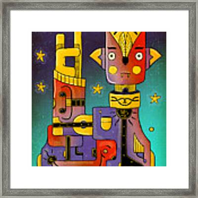 I Come In Peace - Heavy Metal Framed Print by Sotuland Art