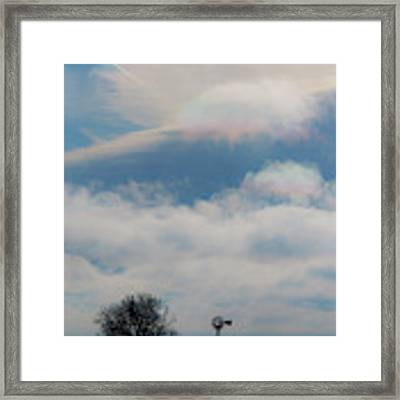 Iridescent Clouds 03 Framed Print by Rob Graham