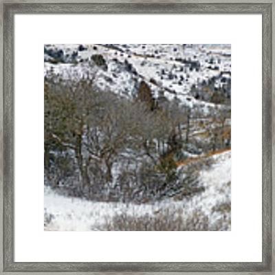 January Badlands Framed Print by Cris Fulton