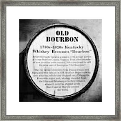 Kentucky Bourbon History Framed Print by Mel Steinhauer