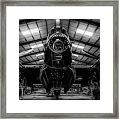 Lancaster Bomber Just Jane Bnw Framed Print by Scott Lyons