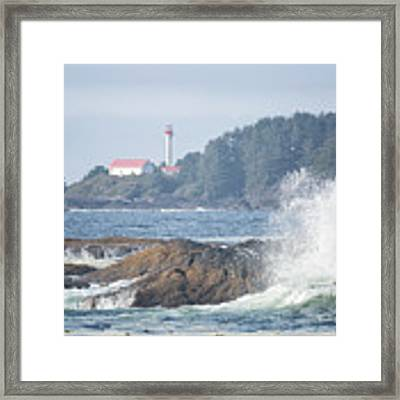 Lennard Island Lighthouse 2 Framed Print by Randy Hall