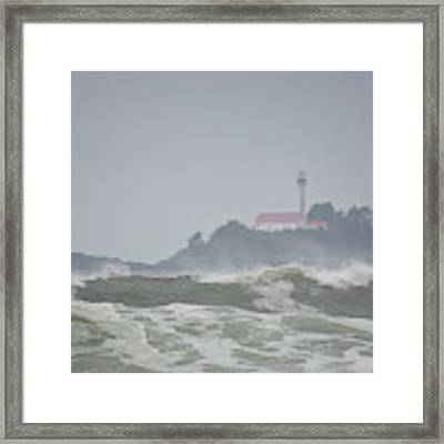 Lennard Island Lighthouse Framed Print by Randy Hall