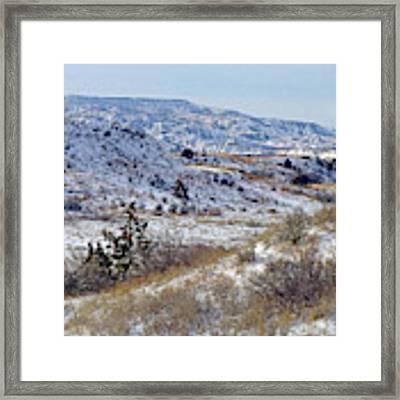 Little Missouri Winter Prairie Framed Print by Cris Fulton