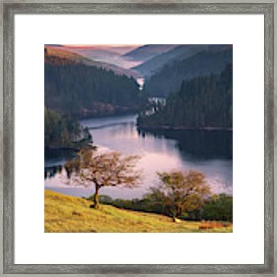 Llyn Brianne Sunrise Framed Print by Elliott Coleman