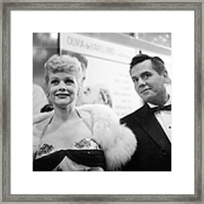 Lucille And Desi Framed Print by Michael Ochs Archives