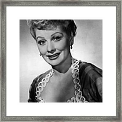 Lucille Ball Framed Print by Evening Standard