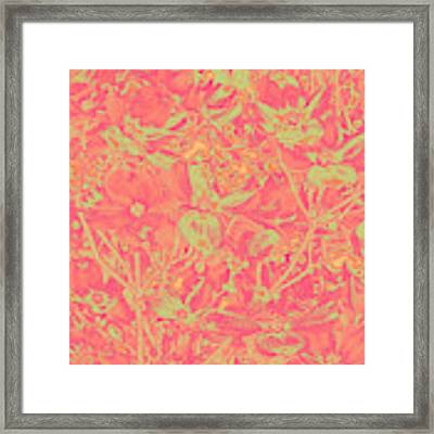 Magnolia Abstract Framed Print by Mae Wertz