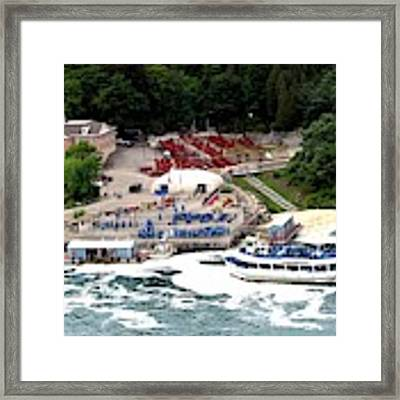 Maid Of The Mist Tour Boat At Niagara Falls Framed Print by Rose Santuci-Sofranko