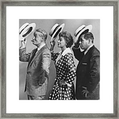Maurice Chevalierdesi Arnaz & Framed Print by Leonard Mccombe