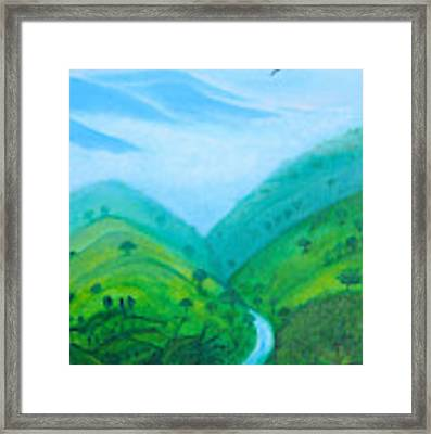 Medellin Natural Framed Print by Gabrielle Wilson-Sealy