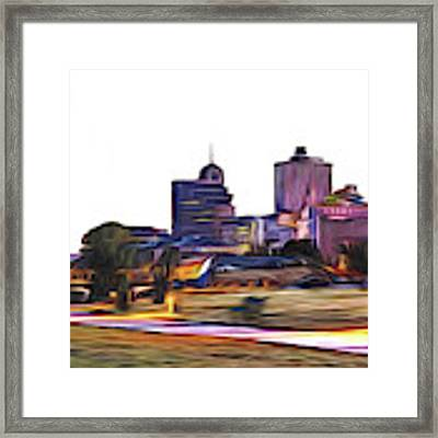 Memphis Skyline Framed Print by Barry Jones