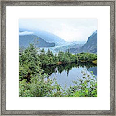 Mendenhall Glacier 1 Framed Print by Dawn Richards
