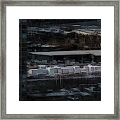 Merchandise Beside A Railroad Track  Framed Print by Juan Contreras