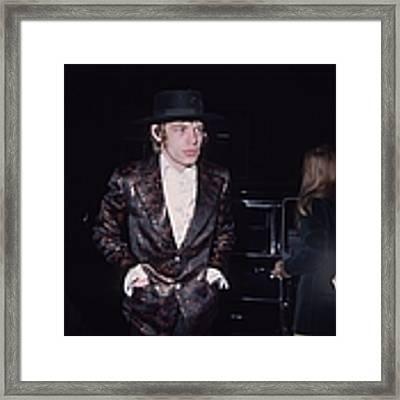 Mick Jagger Framed Print by Fox Photos
