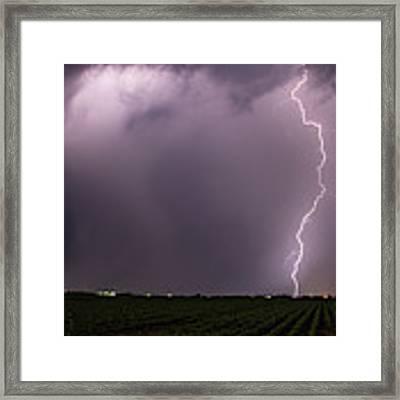 Mid July Nebraska Lightning 018 Framed Print by Dale Kaminski