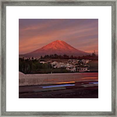 Misti Volcano In Arequipa, Peru, South America Framed Print by Sam Antonio Photography