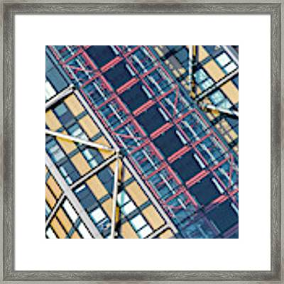 Modern Apartment Architecture Abstract Framed Print by Tim Gainey