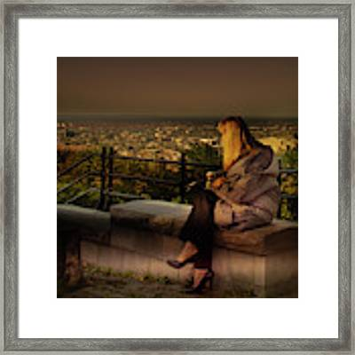 Mont-royal Sunset Framed Print by Juan Contreras