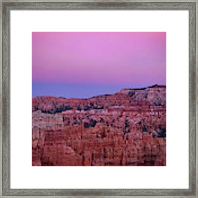 Moonrise Over The Hoodoos Bryce Canyon National Park Utah Framed Print by Dave Welling