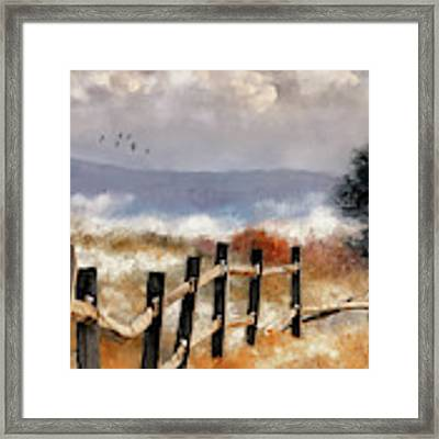 Morning Mists In The Mountains Framed Print by Lois Bryan