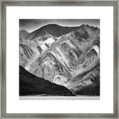 Mountains At Pangong Framed Print by Whitney Goodey