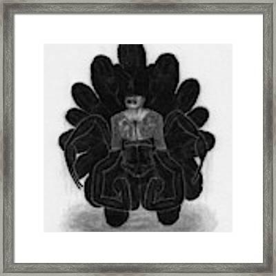 Mr Death - Artwork Framed Print by Ryan Nieves