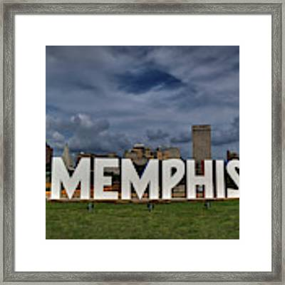 Mud Island Memphis Monument 001 Framed Print by Lance Vaughn