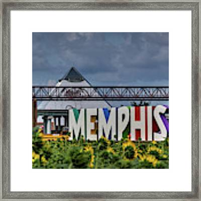 Mud Island Memphis Monument 002 Framed Print by Lance Vaughn