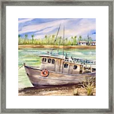 Near The Harbour 3 Framed Print by Katerina Kovatcheva