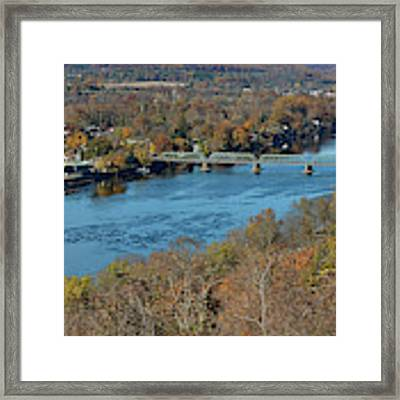 New Hope Pa From On High Framed Print by William Jobes