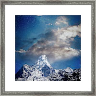 Nightfall Himalaya Framed Print by Scott Kemper