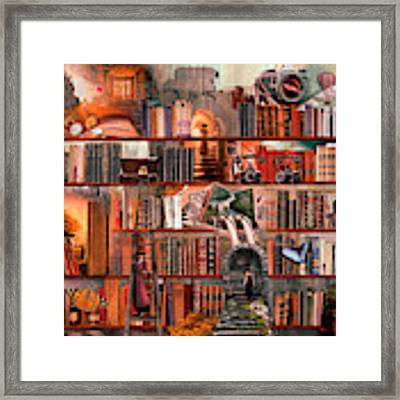 Nighttime Mystery Writers Framed Print by Debra and Dave Vanderlaan