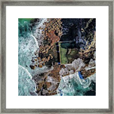 North Curl Curl Headland And Pool Framed Print by Chris Cousins