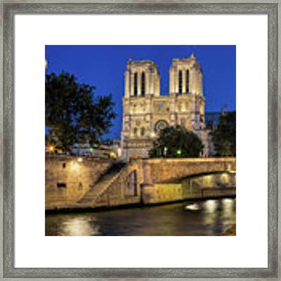 Notre Dame Cathedral Evening Framed Print by Jemmy Archer