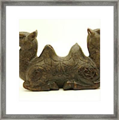 Old Jade Double Camel, Han Dynasty Framed Print by Bryan Smith