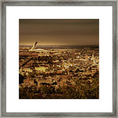 Olympic Stadium Framed Print by Juan Contreras