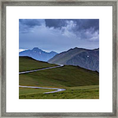 On Top Of The World Framed Print by John De Bord