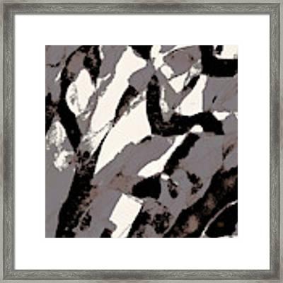 Organic 2 Abstract Framed Print by Menega Sabidussi