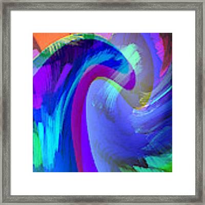 Original Fine Art Digital Abstract Warp10c Scaled Blue. Framed Print by G Linsenmayer