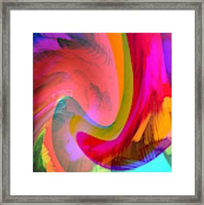 Original Fine Art Digital Abstract Warp10c Scaled Red. Framed Print by G Linsenmayer