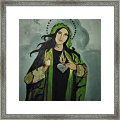 Our Lady Of Veteran Suicide Framed Print by MB Dallocchio
