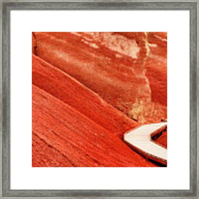 Painted Cove Stroll Framed Print by Dee Browning