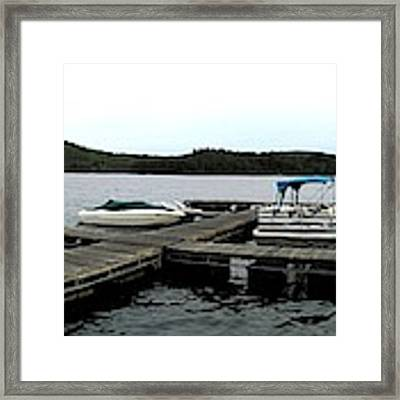 Panorama Of Schroon Lake In The Adirondack Mountains In New York Framed Print by Rose Santuci-Sofranko