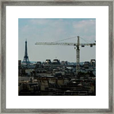 Paris Towers Framed Print by Juan Contreras