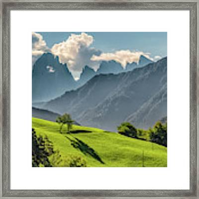 Peak And Meadow Framed Print by James Billings