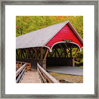 Pemigewasset River Covered Bridge Framed Print by James Billings