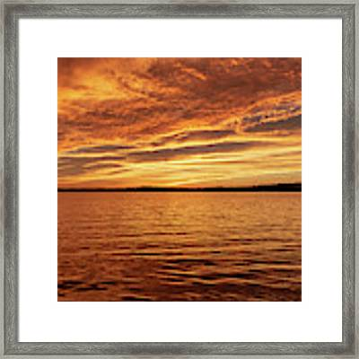 Percy Priest Lake Sunset Framed Print by D K Wall