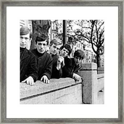 Photo Of Brian Jones And Rolling Stones Framed Print by Ca