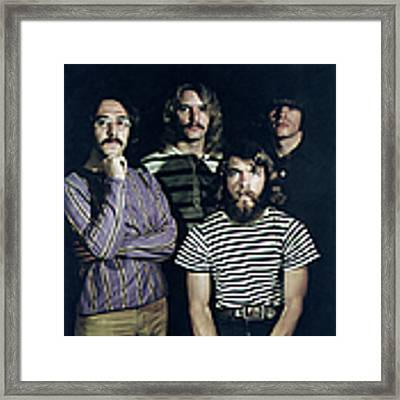Photo Of Creedence Clearwater Revival Framed Print by Michael Ochs Archives